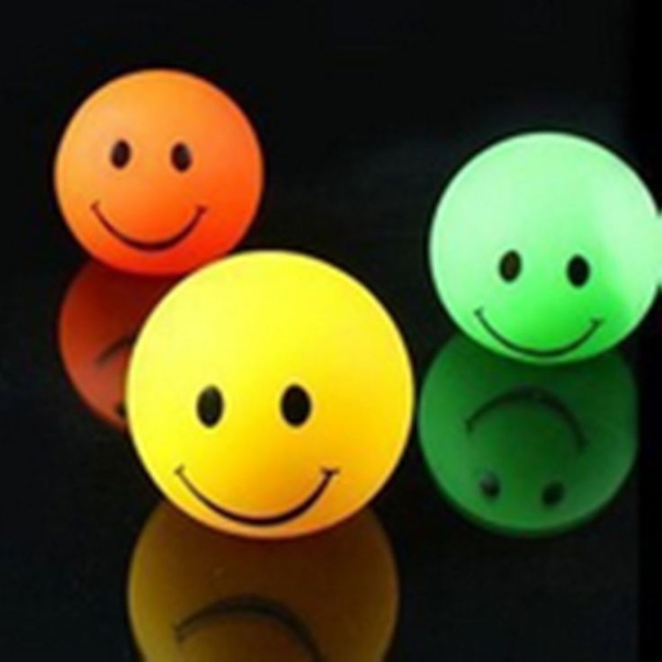1xNew smiling face 7 Colors Changing LED Night Light Decoration creative Lamp