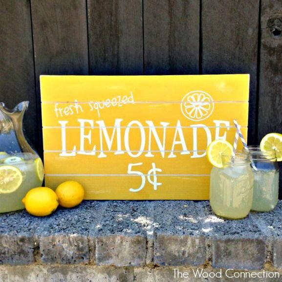 Fresh Lemonade Slat Sign | The Wood Connection Blog