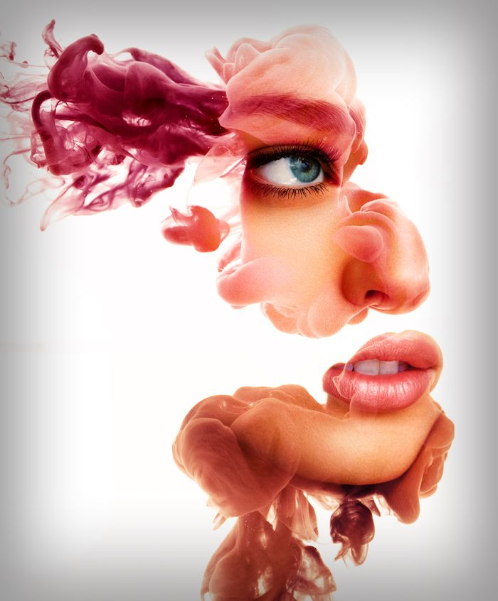 Stunning Ink Portraits Fragmented in Water - Alberto Seveso