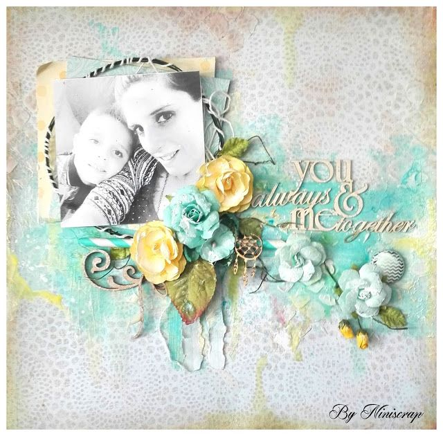 """Accent Scrapbooking: Page """" You and me always together"""" by Niniscrap"""