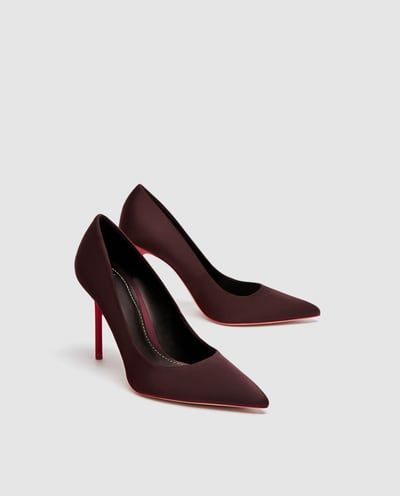 b0c100bb3f7 SATIN COURT SHOES WITH CONTRASTING HEELS-SHOES-WOMAN | ZARA United ...