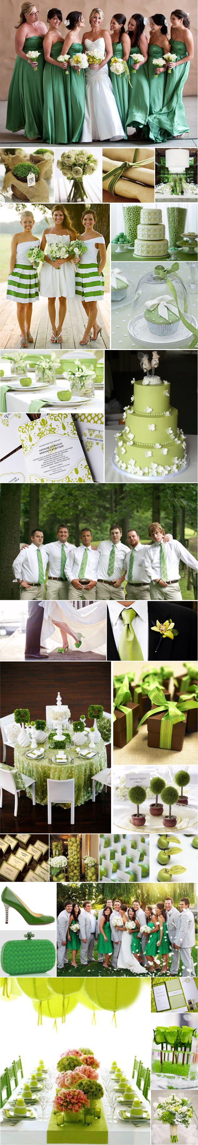 I LOVE these green and white striped bridesmaids dresses :) Such a cute and flattering cut and the color is perfect!