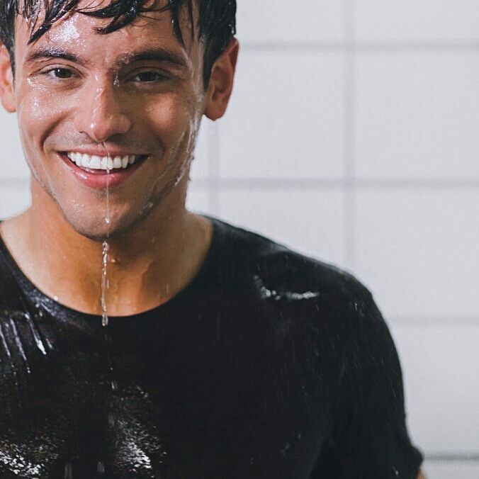 "Tom for Charli XCX's ""Boys"" video #BTS (: @sergemalange)    #BehindTheScenes #TomDaley #CharliXCX #XcxBoys #Boys #WetBoys #lgbt #MusicVideo #Shoot #Stills #Diving #Comeo"