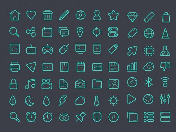Glassy icon set - Sketch