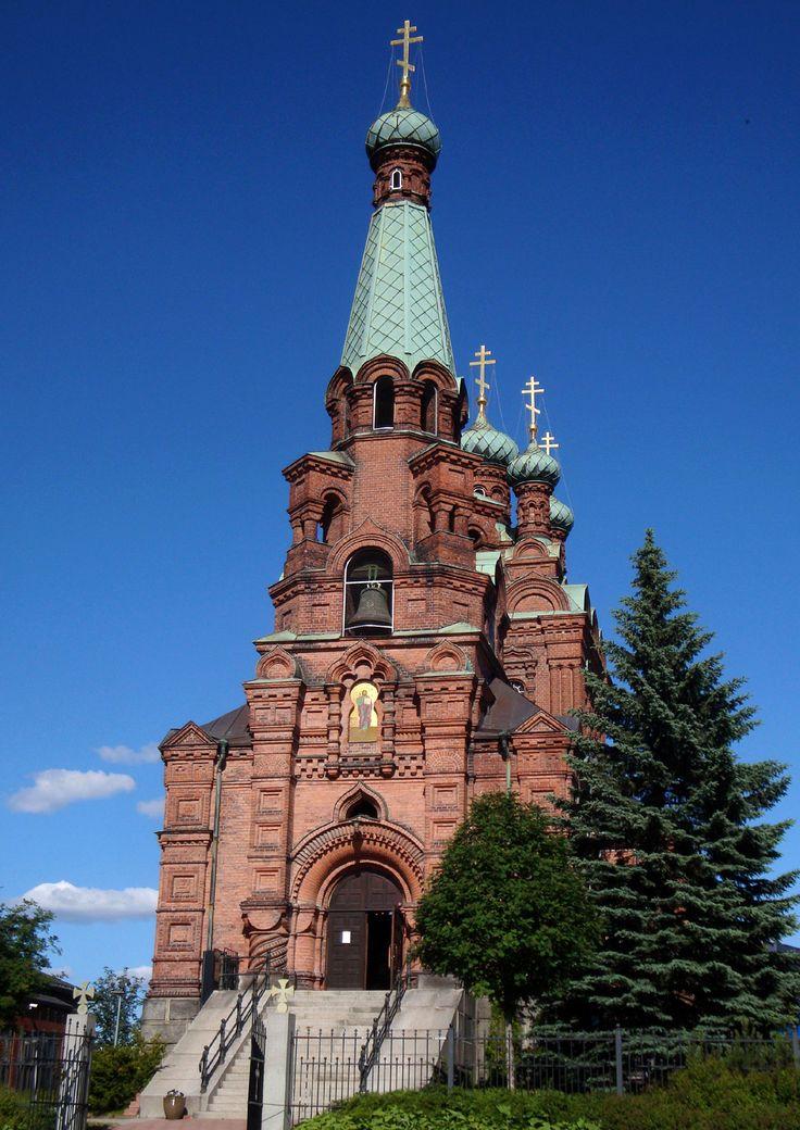 Iglesia ortodoxa de Tampere en Finlandia