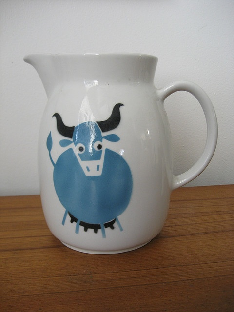 Ceramic Milk Pitcher made by Arabia  Design by Kaj Franck