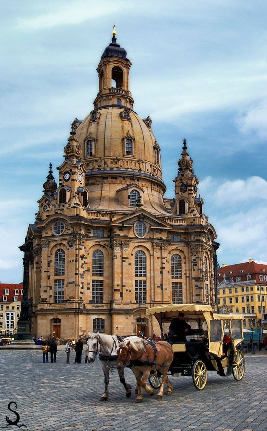 Dresden is the capital city of the Free State of Saxony in Germany. It is situated in a valley on the River Elbe, near the Czech border. The Dresden conurbation is part of the Saxon Triangle metropolitan area with 2.4 million inhabitants.