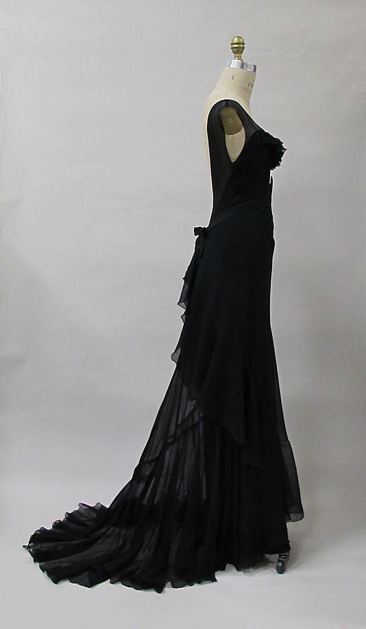 Evening dress Evening dress   Charles James  (American, born Great Britain, 1906–1978)  Date: 1930s Culture: American. Sideway