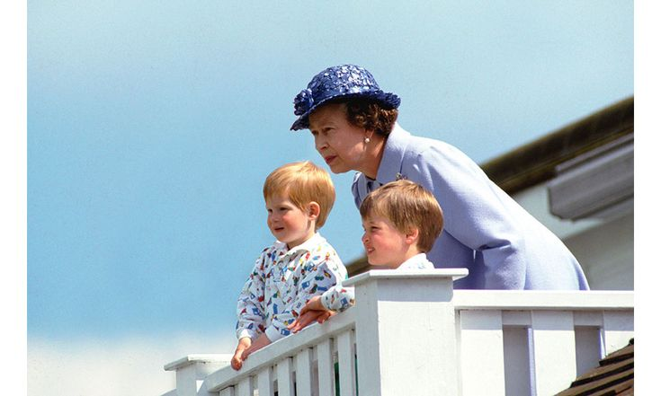 Young Prince William and Prince Harry are the picture of cuteness, seen here in matching outfits during an outing with the Queen. Photo: © Getty Images