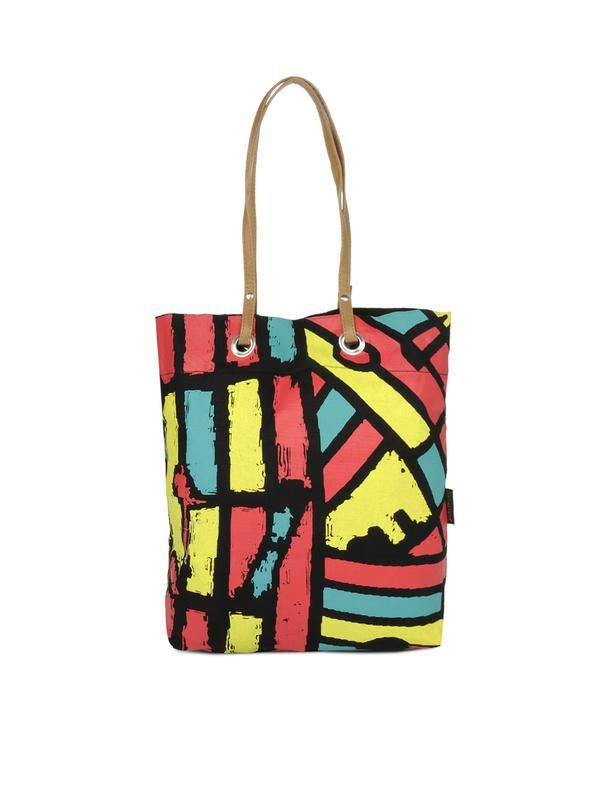 Multi-coloured tote bag with abstract patterns...so summer! - cooliyo.com