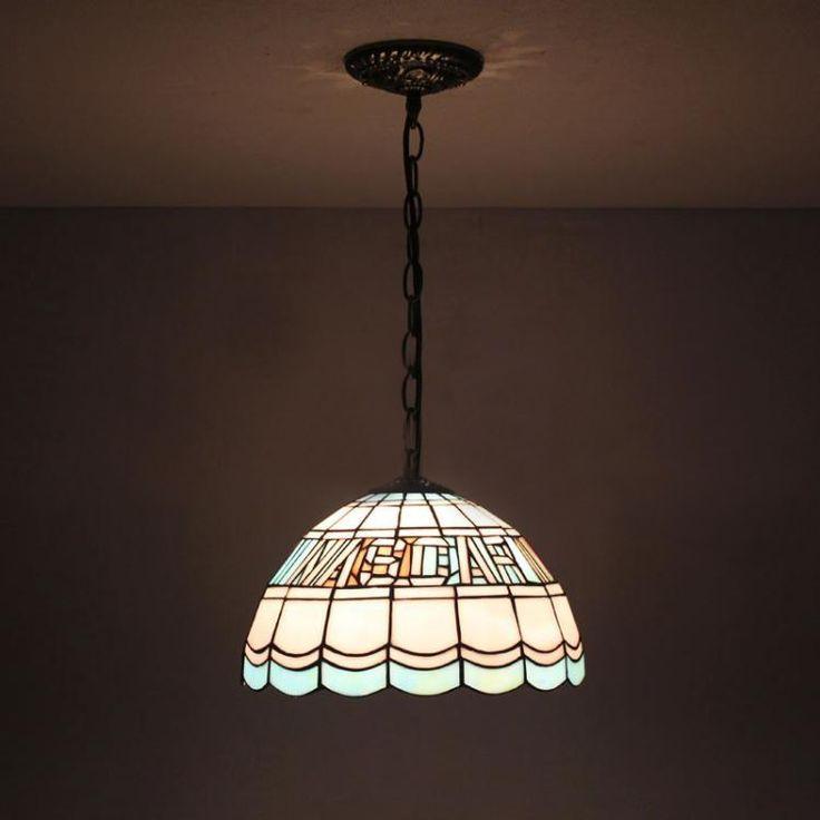 126.65$  Buy here - http://alio8o.worldwells.pw/go.php?t=32593335838 - European Style Fashion Tiffany Pendant Lamp Restaurant Kitchen Dining Room Suspension Light Tiffany Lamp Blue Dia30cm