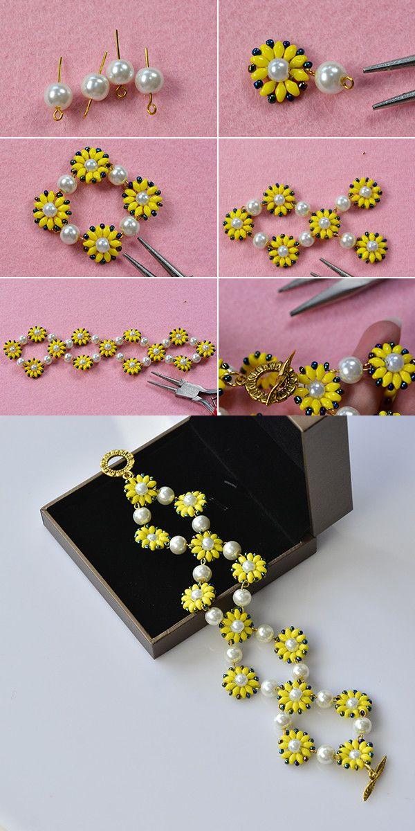 Flower bracelet, fantastic! LC.Pandahall.com will release the tutorial soon.  #pandahall