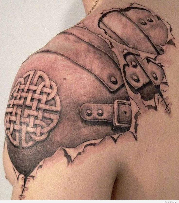 3D-Celtic-Tattoos-Modern – shoulder tattoo | Pintast