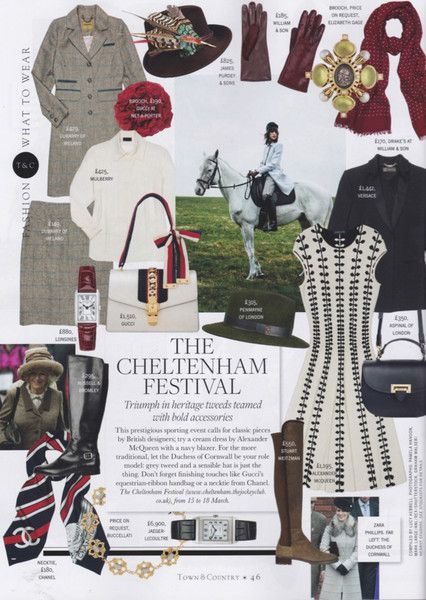 We are delighted to see the Penmayne of London Amber Trilby featured in Town & Country Magazine's 'What to Wear..The Cheltenham Festival' page (Spring Issue