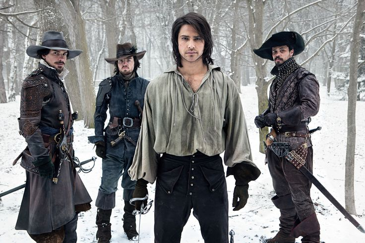 BBC AMERICA has released the very first photos for The Musketeers, their new 10-part action drama set for 2014. Luke Pasqualino (Skins, The Borgias) stars as D'Artagnan, with Tom Burke (The Hour) as Athos, Santiago Cabrera (Heroes/Merlin) as Aramis, and Howard Charles as Porthos.