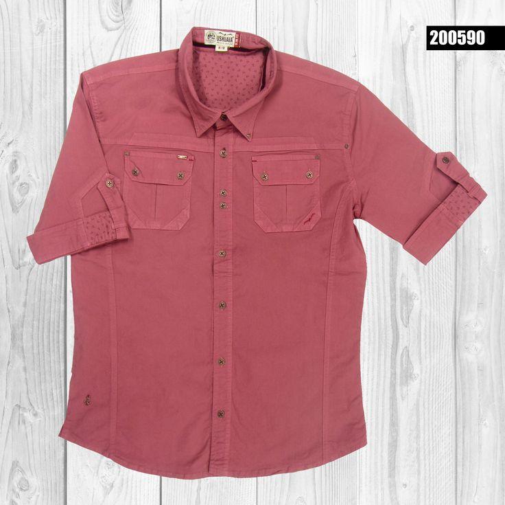 camisa-hombre-manga-corta-color-salmon-200590