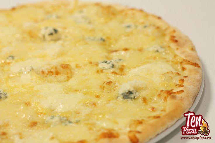 Pizza Quatro Formaggi - Mozzarella, parmesan, cascaval, gorgonzola