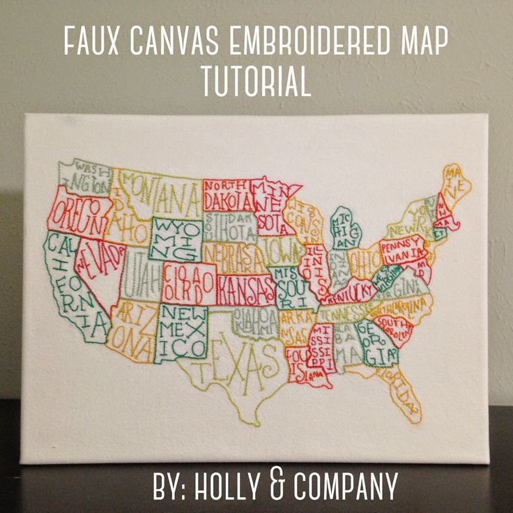 Holly & Company: Embroidered Map Tutorial