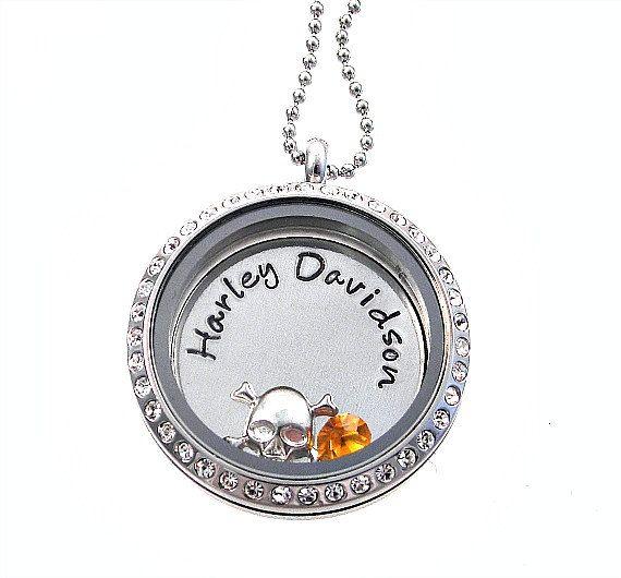 Harley Davidson Necklace Floating Living Locket Hand