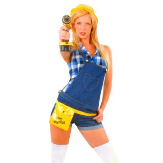 Description:  Sexy Home Wrecker Outfit, Includes hat, belt, and shirt/dungarees   SOCKS OR DRILL NOT INCLUDED Weight: 0.58 Kg…