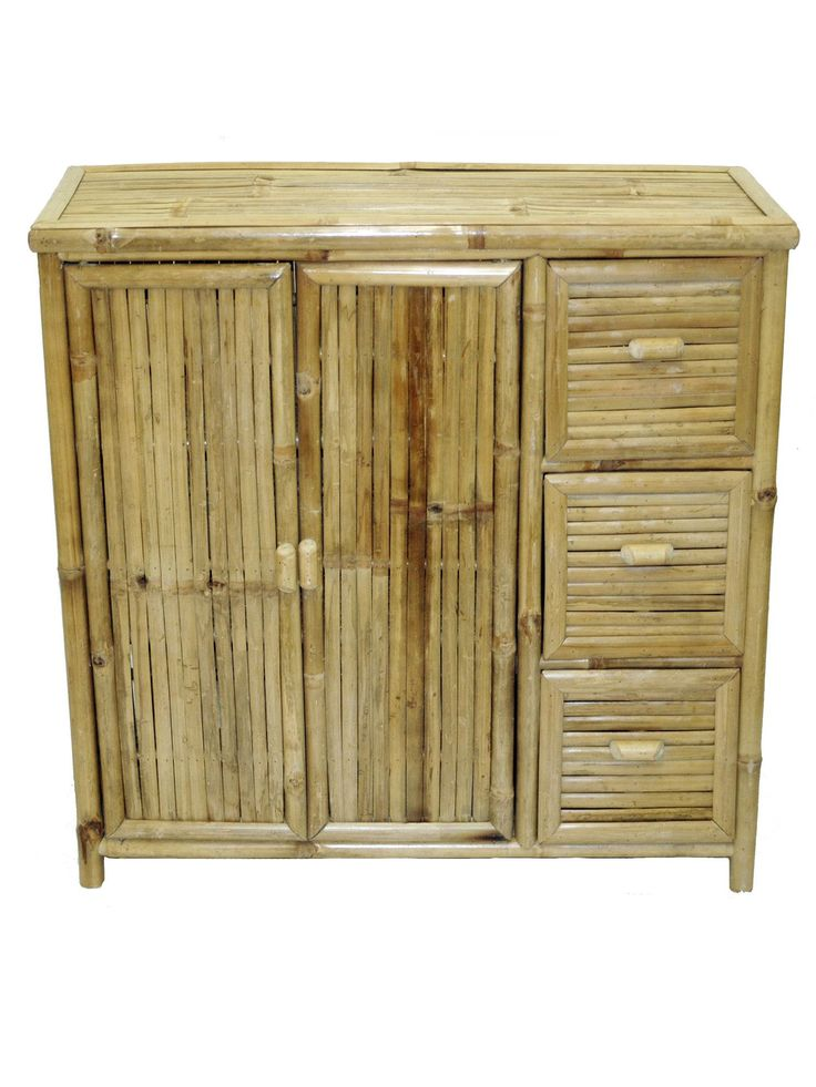 Add A Touch Of Style To Your Home Decor With Bamboo 3 Drawer Chest