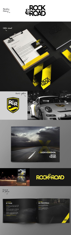 ROCK&ROAD #club #coches #motor #lujo #branding #naming #diseño #cars #design