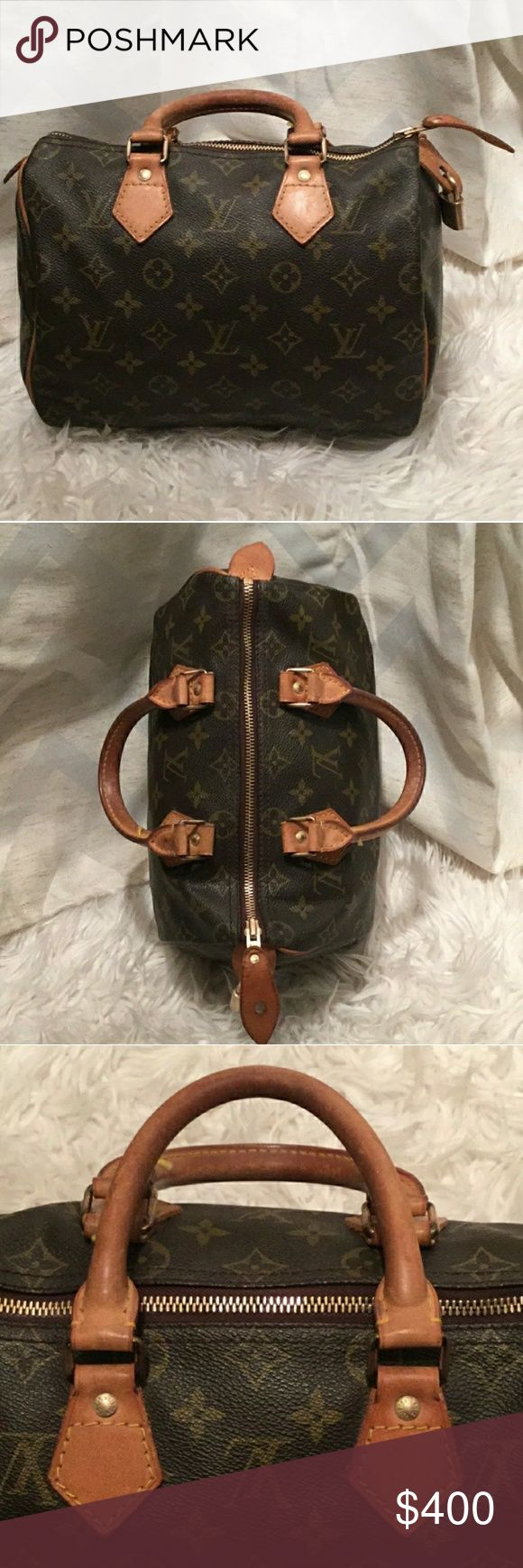 Authentic Louis Vuitton Speedy 25 Excellent condition. Great used condition for age of bag. Authentic. Date code provided in picture's and reads SD861. That means this bag was made in the first month of 1986. With that being said, for a 32 year old bag it's in pristine shape. Any questions please ask. Willing to trade with honest, well established poshers whom have great feedback only.trade value $450. Louis Vuitton Bags Totes
