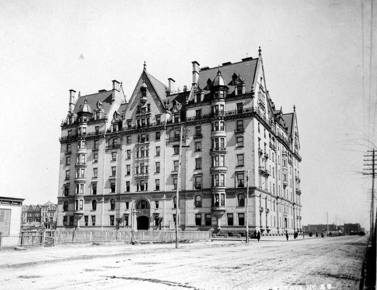 "The Dakota was built in 1884 by Singer Sewing Machines tycoon Edward Severin Clark. At the time construction began, The Dakota was so far from the center of Manhattan that ""it might as well have been in the Dakotas."" Despite the fact that upper-class New Yorkers looked down their noses at apartment living in those days, apartments in The Dakota were all pre-sold by the time the building opened."