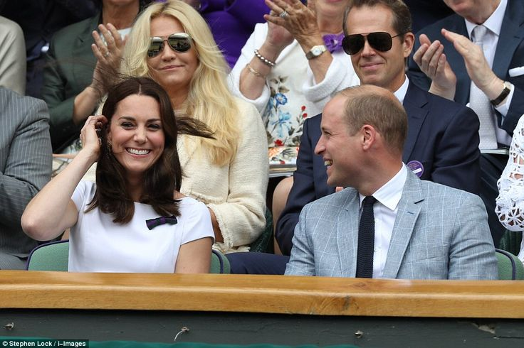 The Duke and Duchess of Cambridge sat in the royal box for the Wimbledon final for Roger F...