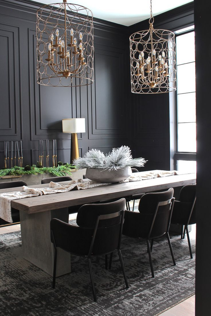 The Forest Modern Grand Finale Christmas Home Tour 2018 The House Of Silver Lining Black Dining Room Dining Room Colors Dining Room Decor Modern