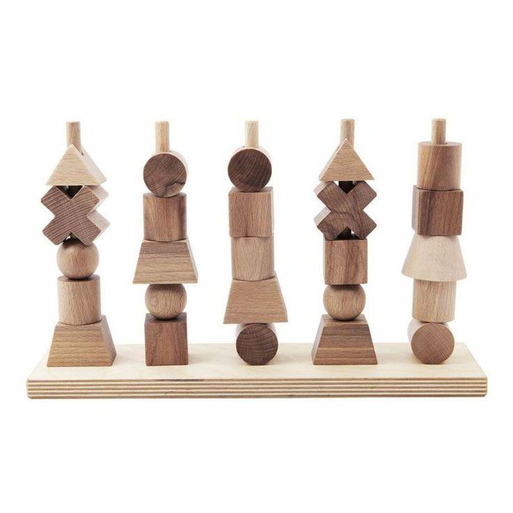 Wooden Story - Stable Legetøj I Træ, Natur → Køb Billigt Her
