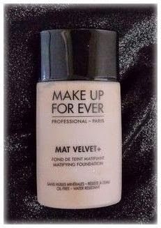 Color Me With Beauty: MAKE UP FOR EVER Mat Velvet+ Foundation
