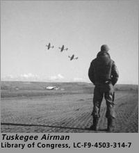 """""""Tuskegee Airmen"""" refers to all who were involved in the so-called """"Tuskegee Experiment,"""" the Army Air Corps program to train African Americans to fly and maintain combat aircraft. The Tuskegee Airmen included pilots, navigators, bombardiers, maintenance and support staff, instructors, and all the personnel who kept the planes in the air."""