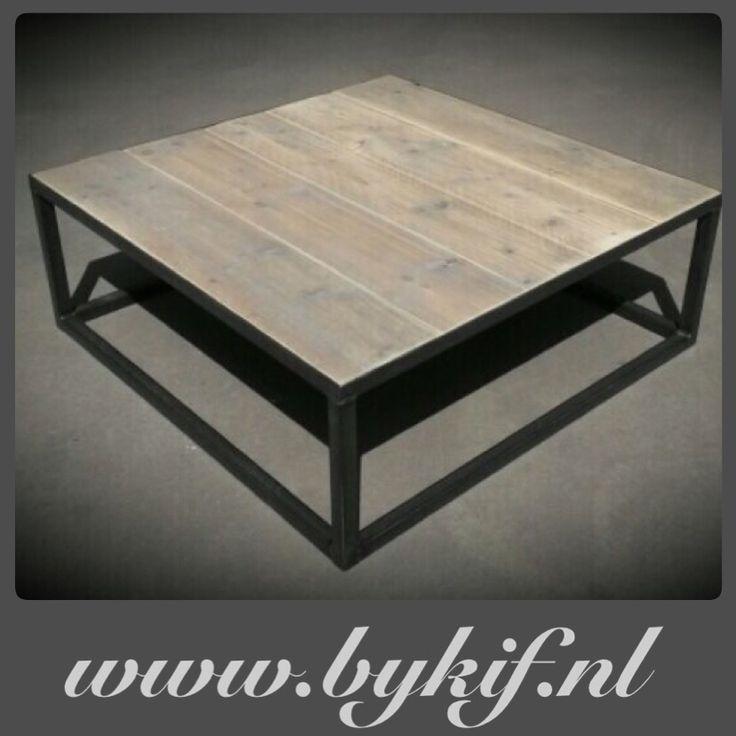 Salontafel steigerhout/staal