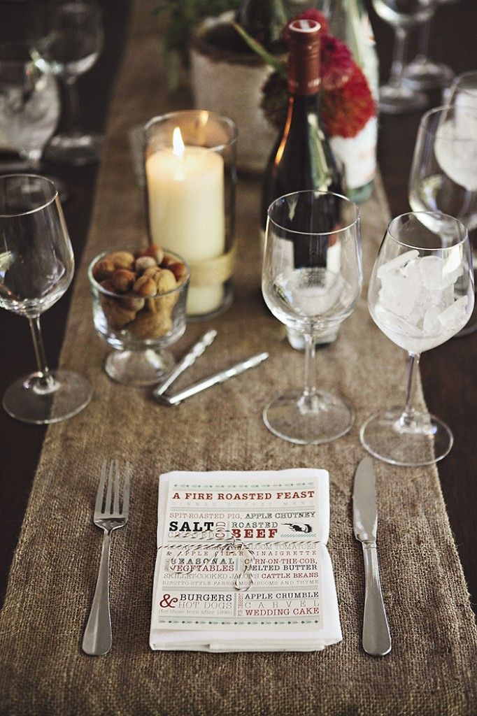 Berkshire wedding table setting idea