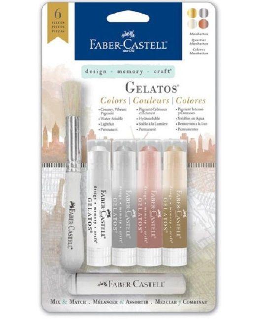 Faber Castell Gelatos - Pigment Sticks - Manhattan 6 st. €16,95