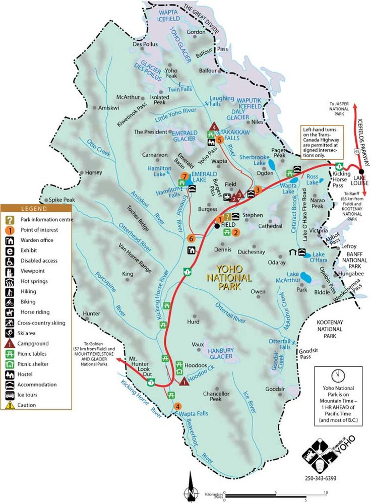 17 best Yoho National Park Maps and Books images on Pinterest