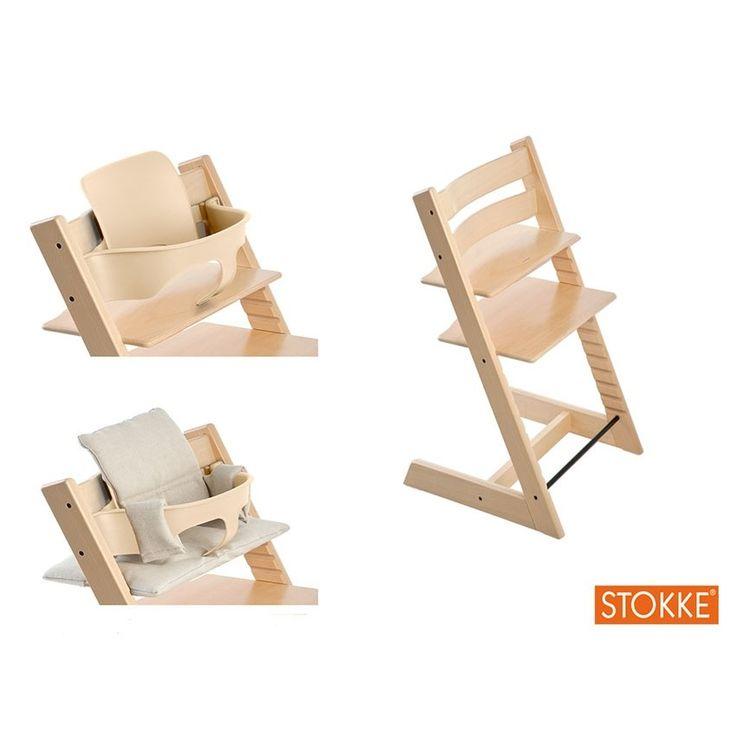 pack chaise tripp trapp stokke naturel babyset coussin sabanne