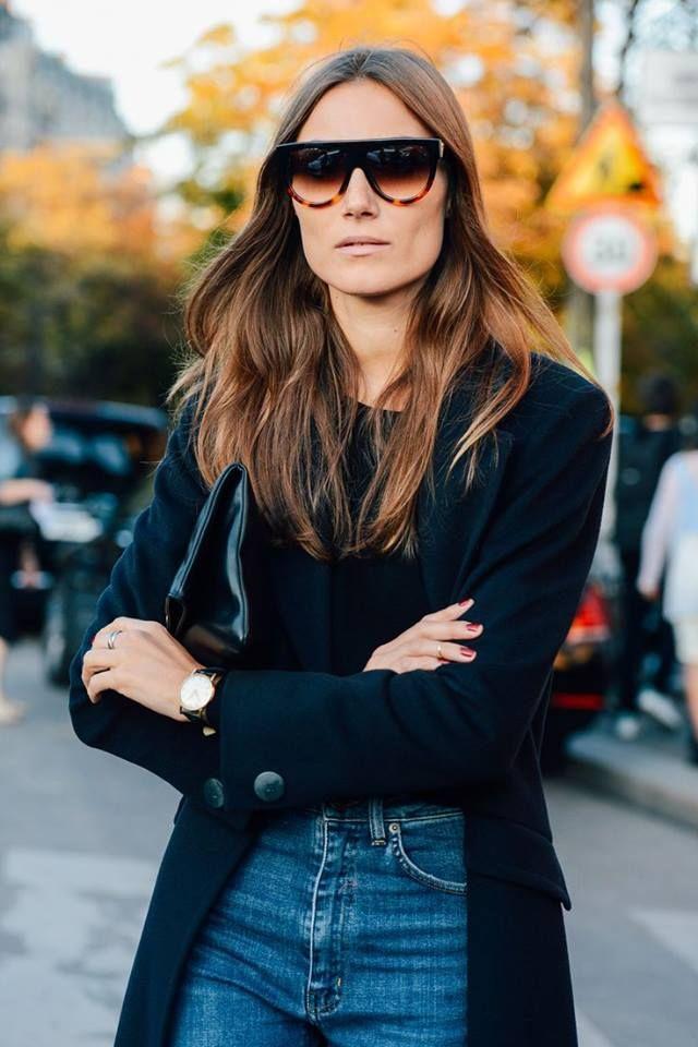 Bu kış dış giyimde ekstra geniş ve hacimli önü açık siyah ceketler trend!  #Celine #fw14 #fashion #vogue #mode #sunglasses #aw14