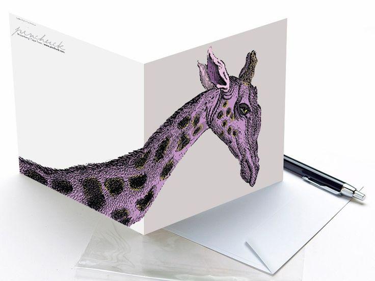 Giraffe Art Card | Pinchuck