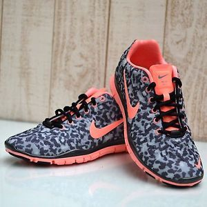 nike free pink leopard print shoes