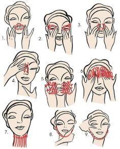 Aidez votre visage en le massant tous les jours , il vous le rendra
