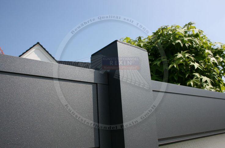 rexocover in anthrazit hier als zaun im einsatz der lichtausschnitt wurde mit plexiglas tunis. Black Bedroom Furniture Sets. Home Design Ideas