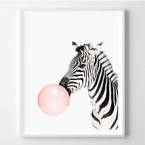 Zebra print Nursery art Zebra wall art Animal by WallArt2Decor