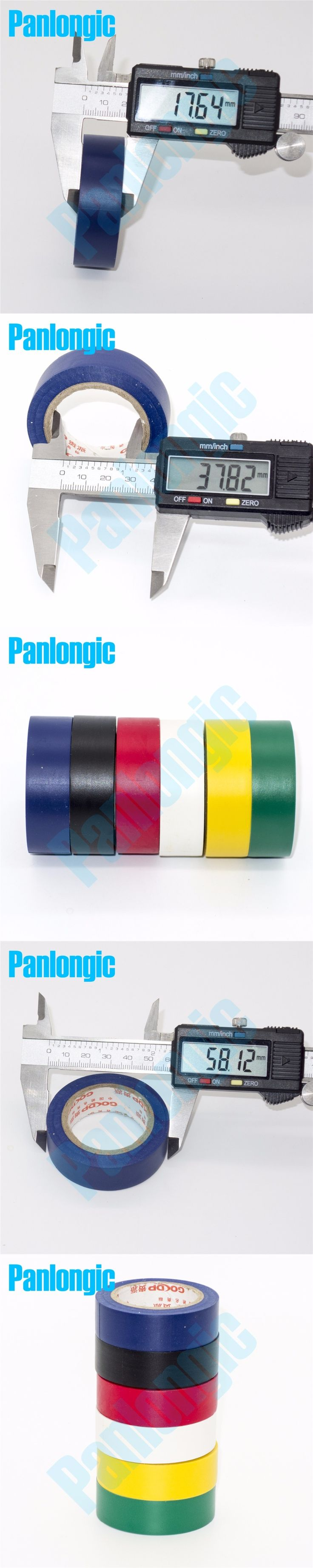 6PCS 6 Colors 10Meters/pcs Electrical Tape Insulation Adhesive Tape High Temperature Insulation Tape Waterproof PVC Tape