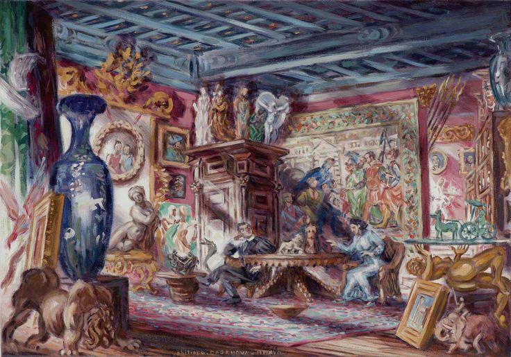 Antique dealer's interior near Piazza Farnese (Rome); oil on canva; 35x50 cm; Philippe Casanova 2017