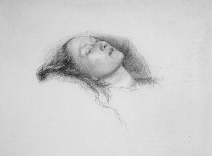 John Everett Millais - Elizabeth Siddal. study for Ophelia  |