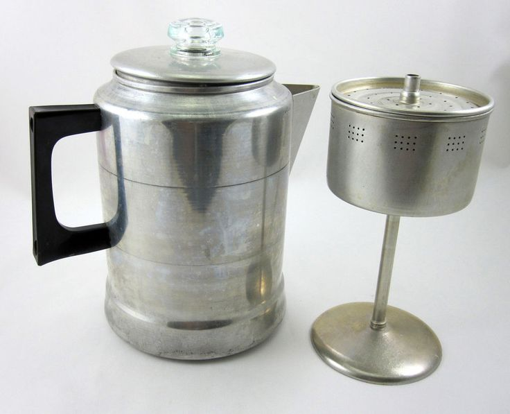 Comet Aluminum Coffee Pot 9 Cup Vintage Stovetop Percolator Made in USA Campfire Home Vintage - Primitive Kitchen Canister Sets