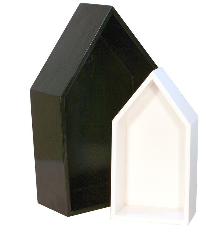 סט בתי עץ שחור לבן