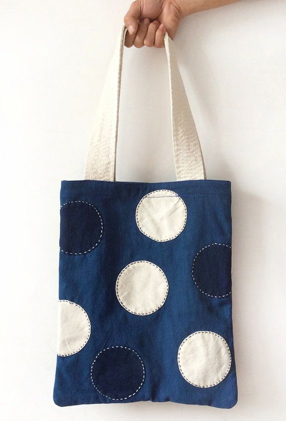 Shibori Indigo & Boro style Tote bags - Japanese Vintage Blue Homespun Shopping bag - Cotton Fabric - Natural hand dyed/ Plant dye - Tie dye